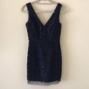 BCBGMaxazria Navy Mini Dress in Size 4